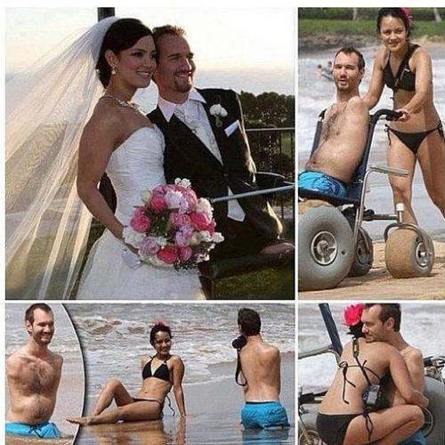Nick Vujicic & his wife Kanae Miyahara